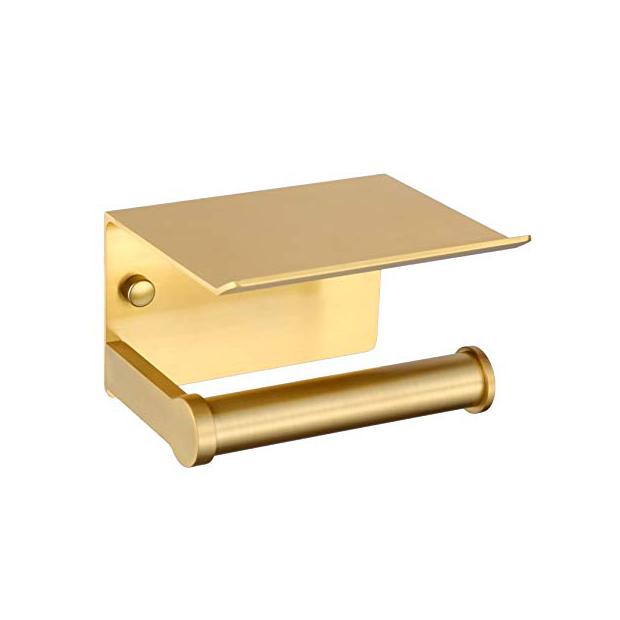 Portarrollos de baño dorados
