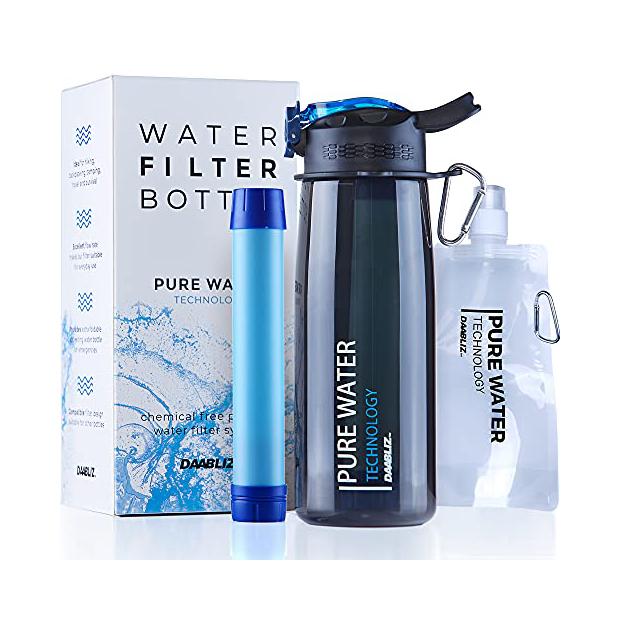 Purificadores de agua forma de botella