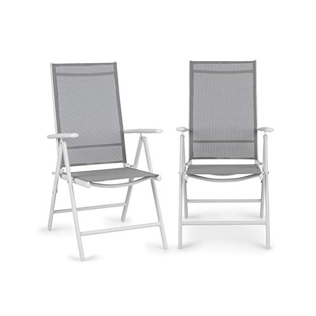 Sillas de jardín de aluminio blancos