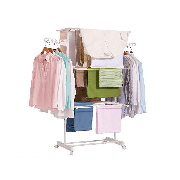Tendederos de ropa plegables con 4 niveles