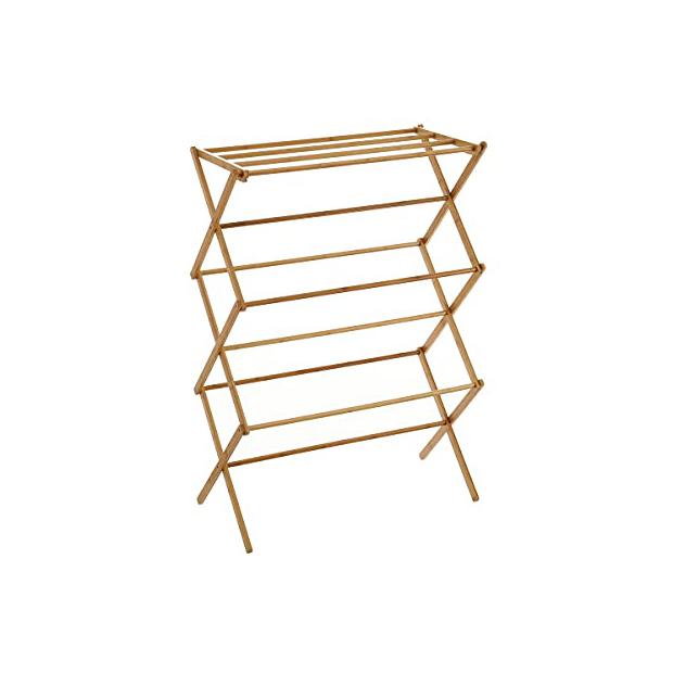 Tendederos verticales de bambú
