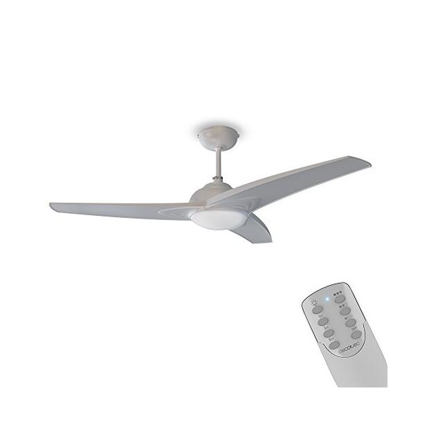 Ventiladores de techo blancos con luz y mando a di...