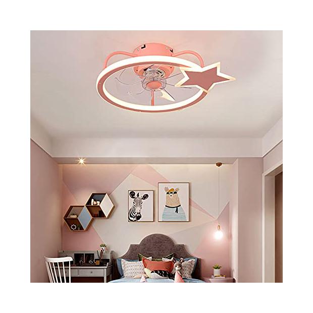 Ventiladores de techo rosas
