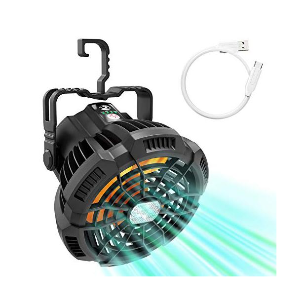 Ventiladores portátiles con luz led